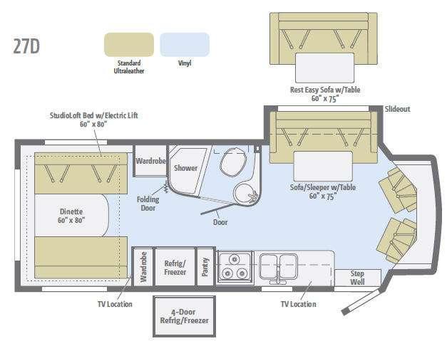 Floorplan - 2015 Itasca Cambria 27D