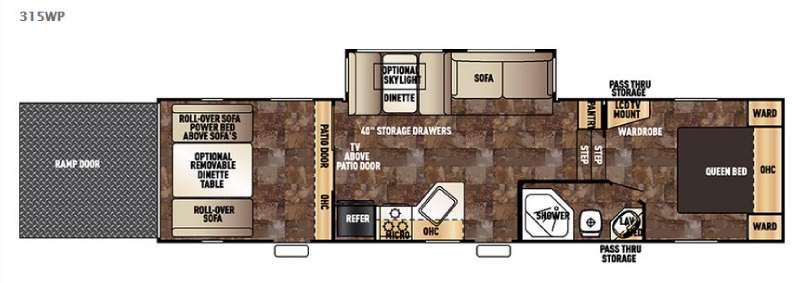 Floorplan - 2015 Forest River RV Cherokee Wolf Pack 315WP