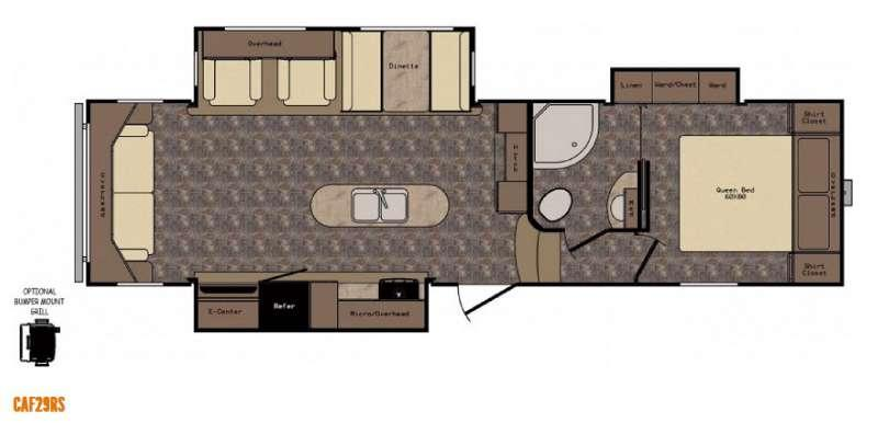 Floorplan - 2016 CrossRoads RV Cruiser Aire CAF29RS