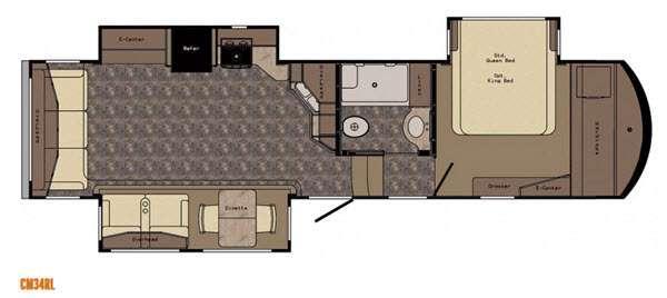 Floorplan - 2016 CrossRoads RV Cameo CM34RL