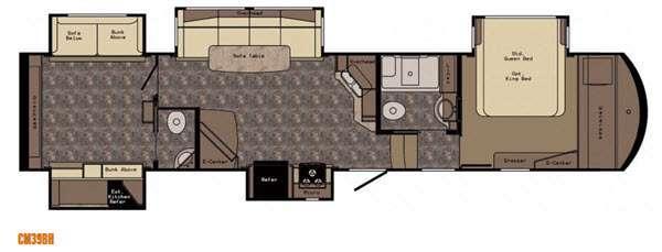 Floorplan - 2016 CrossRoads RV Cameo CM39BH