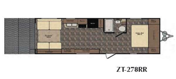 Floorplan - 2016 CrossRoads RV Z 1 ZT278RR