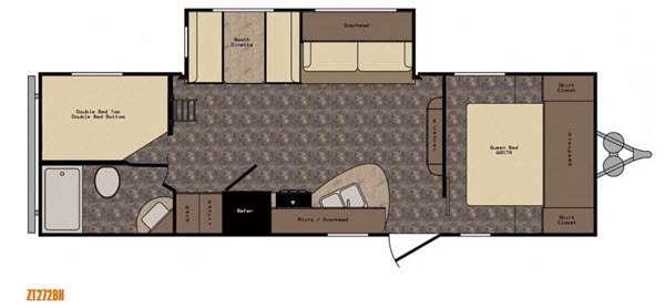 Floorplan - 2016 CrossRoads RV Z 1 ZT272BH