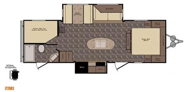 Floorplan - 2016 CrossRoads RV Zinger ZT26KS