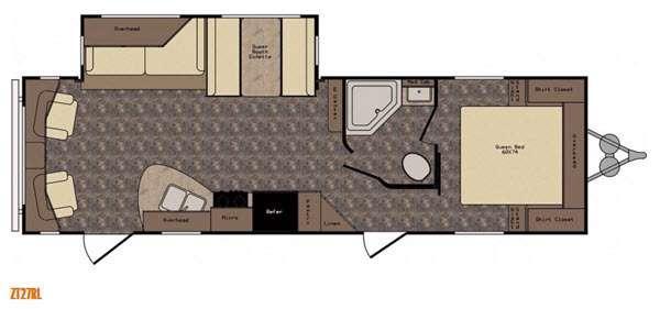 Floorplan - 2016 CrossRoads RV Zinger ZT27RL