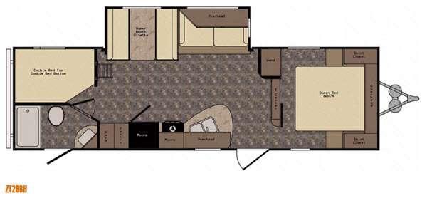 Floorplan - 2016 CrossRoads RV Zinger ZT28BH
