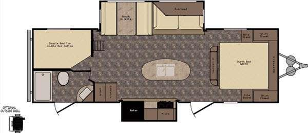 Floorplan - 2016 CrossRoads RV Longhorn LHT26KS Texas Edition