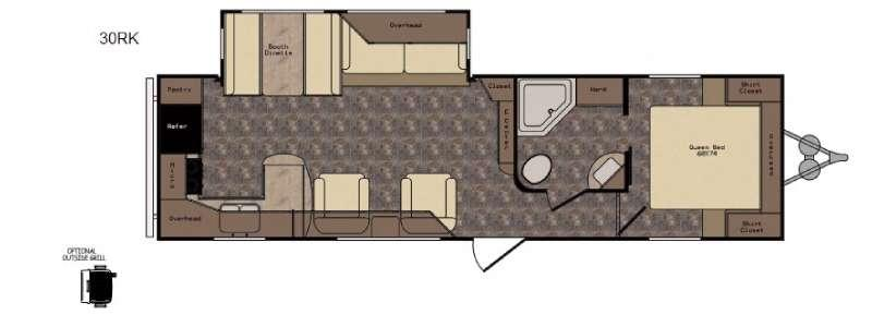 Floorplan - 2016 CrossRoads RV Longhorn LHT30RK Texas Edition