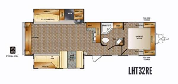 Floorplan - 2016 CrossRoads RV Longhorn LHT32RE Texas Edition