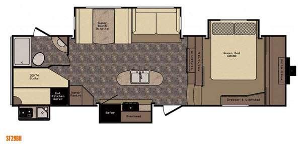 Sunset Trail Reserve SF29BH Floorplan Image
