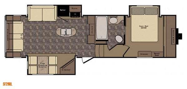 Sunset Trail Reserve SF29RL Floorplan Image