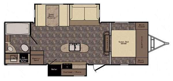 Floorplan - 2016 CrossRoads RV Sunset Trail Reserve ST26RB