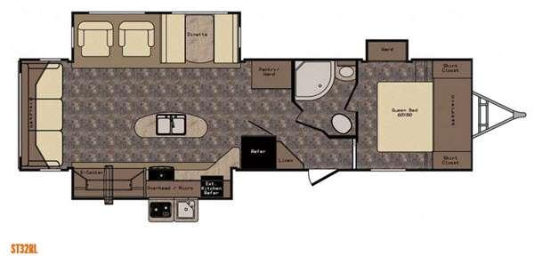 Sunset Trail Reserve ST32RL Floorplan Image
