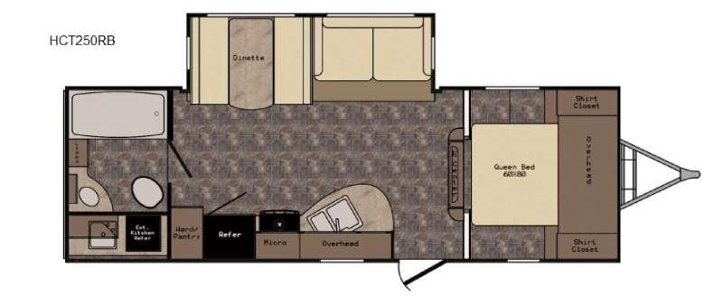 Floorplan - 2016 CrossRoads RV Hill Country HCT250RB
