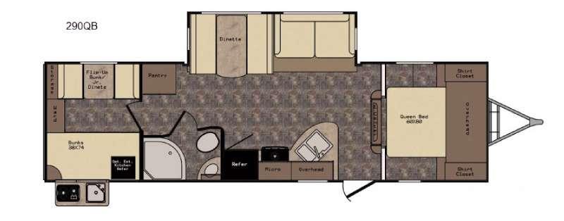 Floorplan - 2016 CrossRoads RV Hill Country HCT290QB