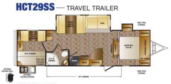 Floorplan - 2016 CrossRoads RV Hill Country HCT29SS