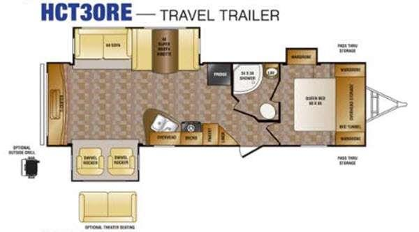 Floorplan - 2016 CrossRoads RV Hill Country HCT30RE