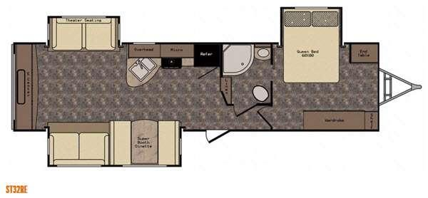 Floorplan - 2016 CrossRoads RV Hill Country HCT32RE