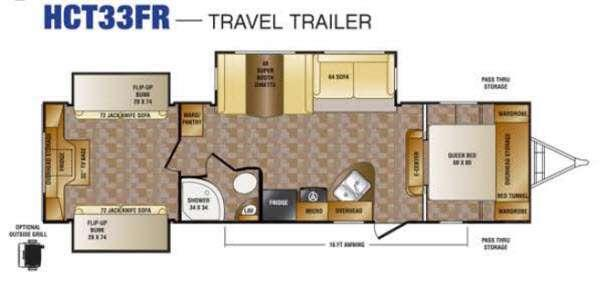 Floorplan - 2016 CrossRoads RV Hill Country HCT33FR