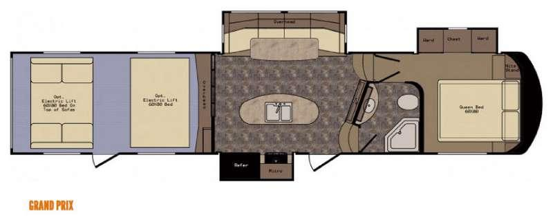 Floorplan - 2016 CrossRoads RV Elevation Grand Prix