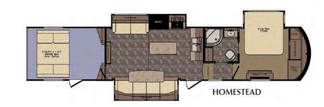 Floorplan - 2016 CrossRoads RV Elevation Homestead