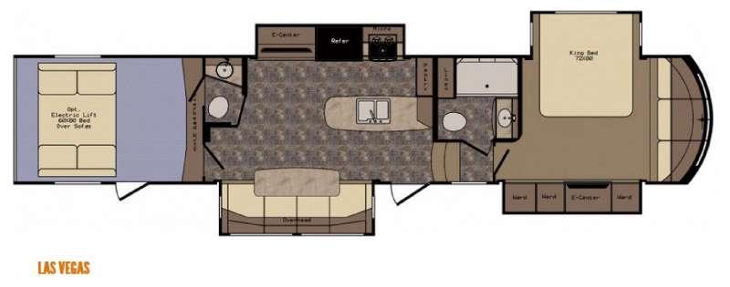 Floorplan - 2016 CrossRoads RV Elevation Las Vegas