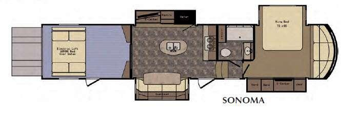Floorplan - 2016 CrossRoads RV Elevation Sonoma