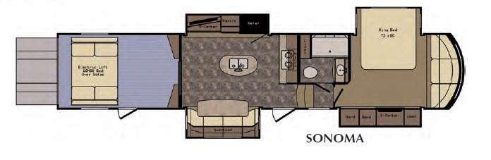Floorplan - 2016 CrossRoads RV Elevation Sonoma