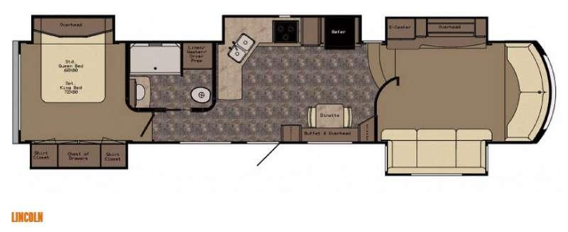 Floorplan - 2016 CrossRoads RV Rushmore Lincoln