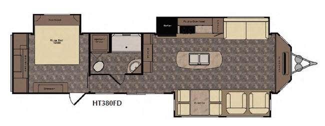 Floorplan - 2016 CrossRoads RV Hampton HT380FD