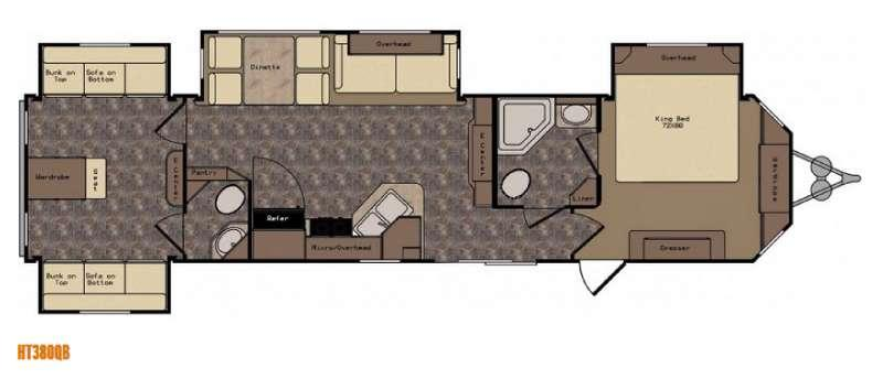 Floorplan - 2016 CrossRoads RV Hampton HT380QB