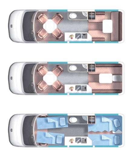 Floorplan - 2015 Roadtrek Adventurous RS