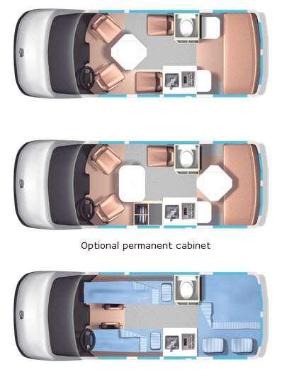 Floorplan - 2015 Roadtrek Versatile 170