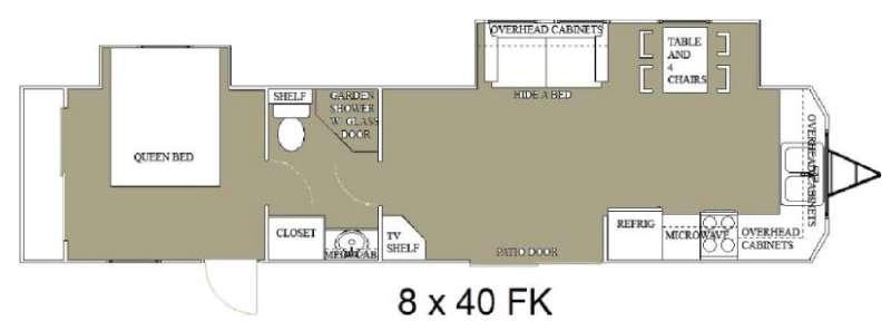 Floorplan - 2015 Allen Camper Manufacturing Idle-Time 8 x 40 Park Trailer