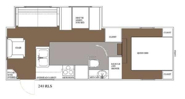 Floorplan - 2015 Allen Camper Manufacturing Idle-Time 240 RLS