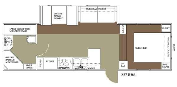Floorplan - 2015 Allen Camper Manufacturing Idle-Time 257 RBS