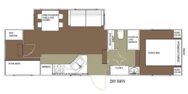 Floorplan - 2015 Allen Camper Manufacturing Idle-Time 289 BHS