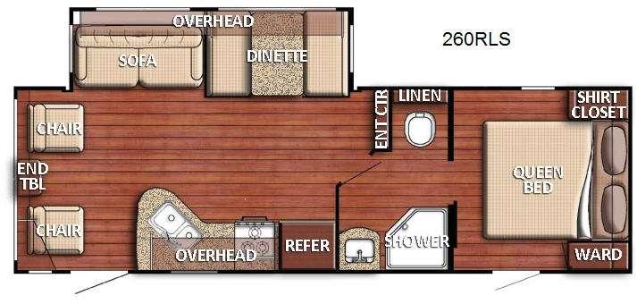 Floorplan - 2016 Gulf Stream RV Kingsport 260 RLS