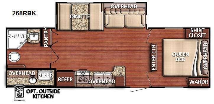 Floorplan - 2016 Gulf Stream RV Kingsport 268 RBK