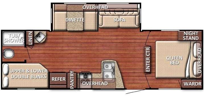 Floorplan - 2016 Gulf Stream RV Kingsport 269 BHG SE Series