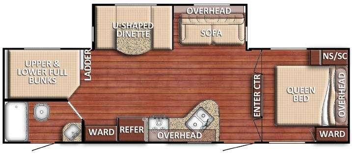 Floorplan - 2016 Gulf Stream RV Kingsport 271 DDS