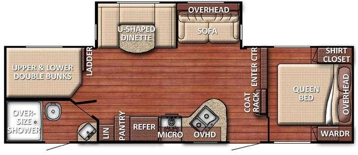Floorplan - 2016 Gulf Stream RV Kingsport 278 DDS