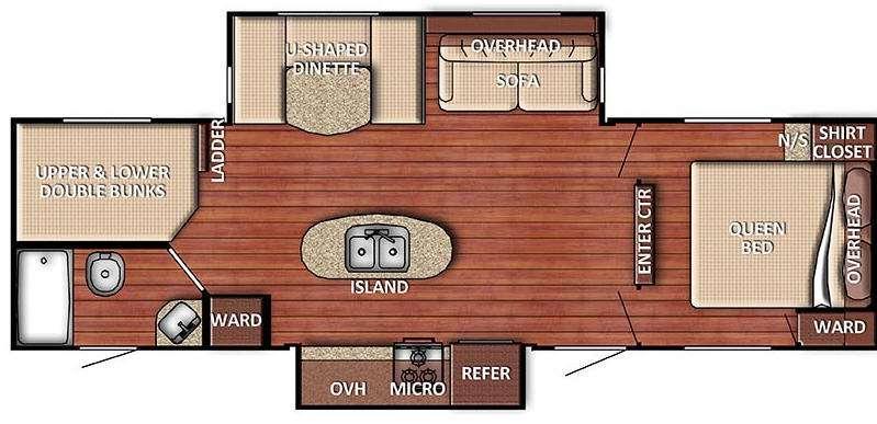 Floorplan - 2016 Gulf Stream RV Kingsport 288 ISL