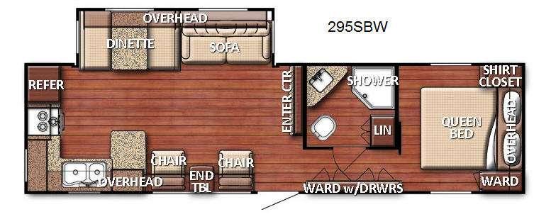 Floorplan - 2016 Gulf Stream RV Kingsport 295 SBW