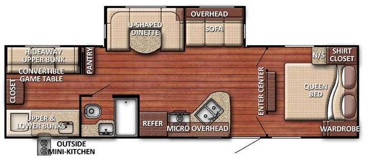 Floorplan - 2016 Gulf Stream RV Kingsport 301 TB