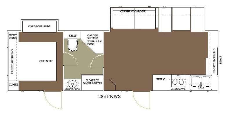 Floorplan - 2015 Allen Camper Manufacturing Idle-Time 283 FKWS