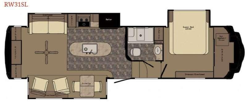 Floorplan - 2016 Redwood RV Redwood 31SL