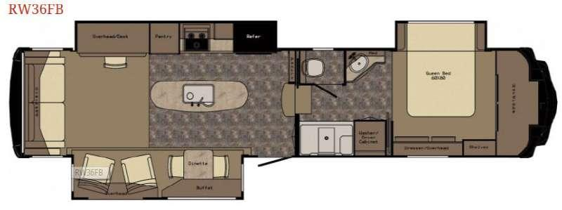 Floorplan - 2016 Redwood RV Redwood 36FB