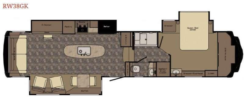 Floorplan - 2016 Redwood RV Redwood 38GK
