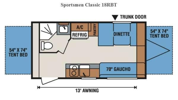 Floorplan - 2016 KZ Sportsmen Classic 18RBT